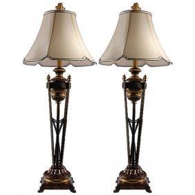 Iron Torchere Lamp Set Of 2