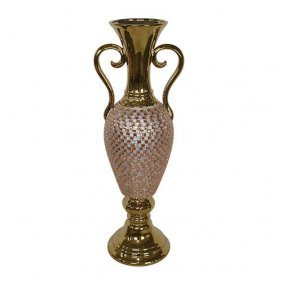 Rose Crystal Tall Vase