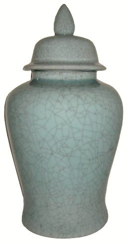 """24""""h Oriental Porcelain Temple Jar In A Choice Of Light"""