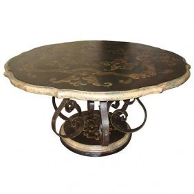 Peruvian Scroll Dining Table