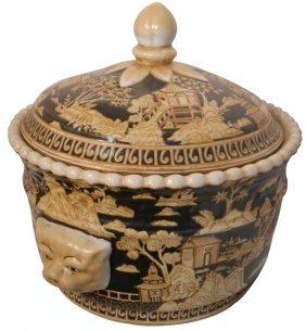 Oriental Porcelain Soup Tureen