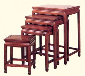 Rosewood Oriental Nest Of Tables