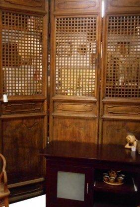 Chinese Antique Room Divider In Lattice Design