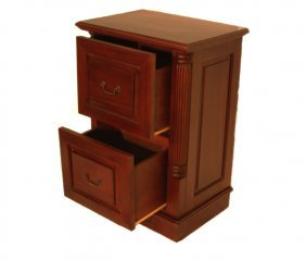 """35"""" H. English Styled Solid Mahogany File Cabinet With"""