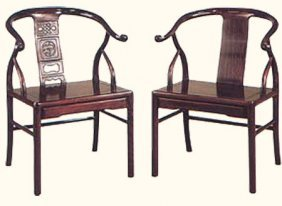 Stylish Solid Rosewood Asian Monk Chair With Plain Back