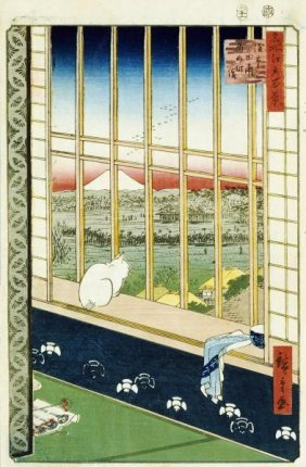 Hiroshige - Asakusa Rice Fields During The Festival Of