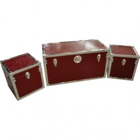Trunks - Set Of 3 -red