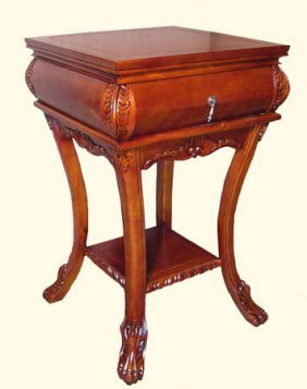 Victorian Style Mahogany One Drawer Table