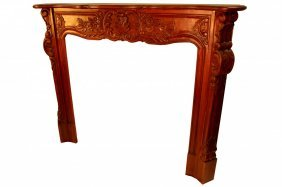 Fire Place Mantel Hand Carved Solid Mahogany