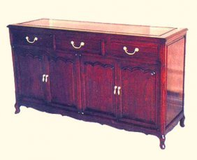 Rosewood Oriental Buffet Cabinet In French Style