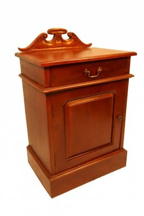 """31""""h Chippendale Carved Mahogany End Table With Door"""