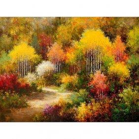 Vibrant Treescape Gallery Wrap