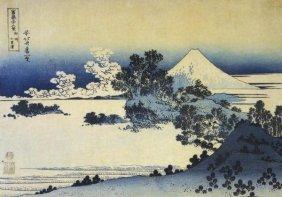 Hokusai - Mount Fuji Seen From Shichirigahama Beach