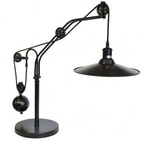 Steel Table Pulley Table Lamp