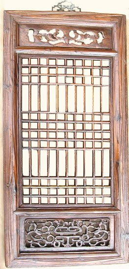 Hand Carved Chinese Antique Window Panel