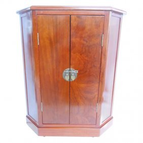 Asian Two Door Cupboard With Big Brass