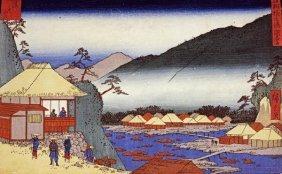 Hiroshige - Seven Hot Springs At Hakone