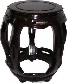 Decorative Solid Rosewood Oriental Barrel Stool