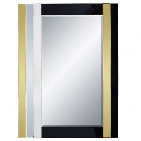 Black & Gold Mirror