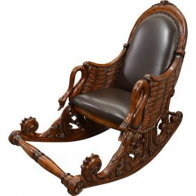 Mahogany Swan Rocking Chair