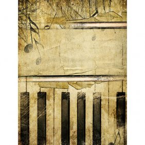 Abstract Piano Gallery Wrap