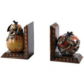 Apple And Pear Bookends