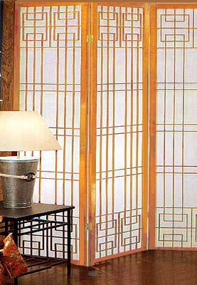 Oriental Wooden Floor Screen Metro Design