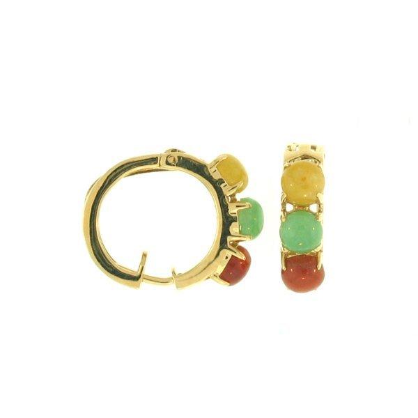 Untreated Multi-color Jade Earrings