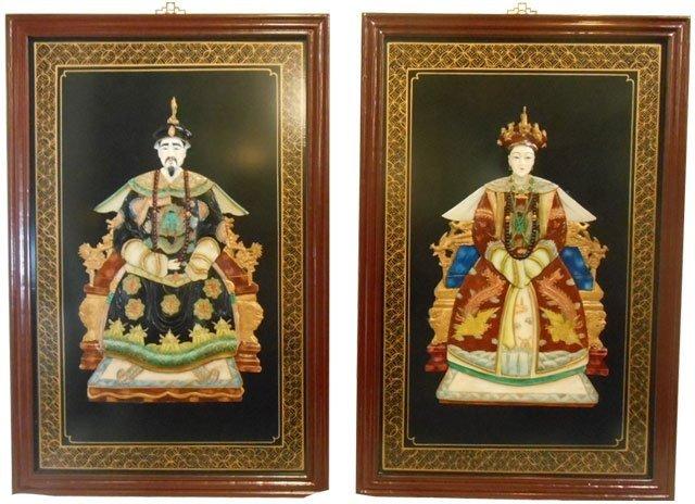 Oriental Ancestor Wall Panels