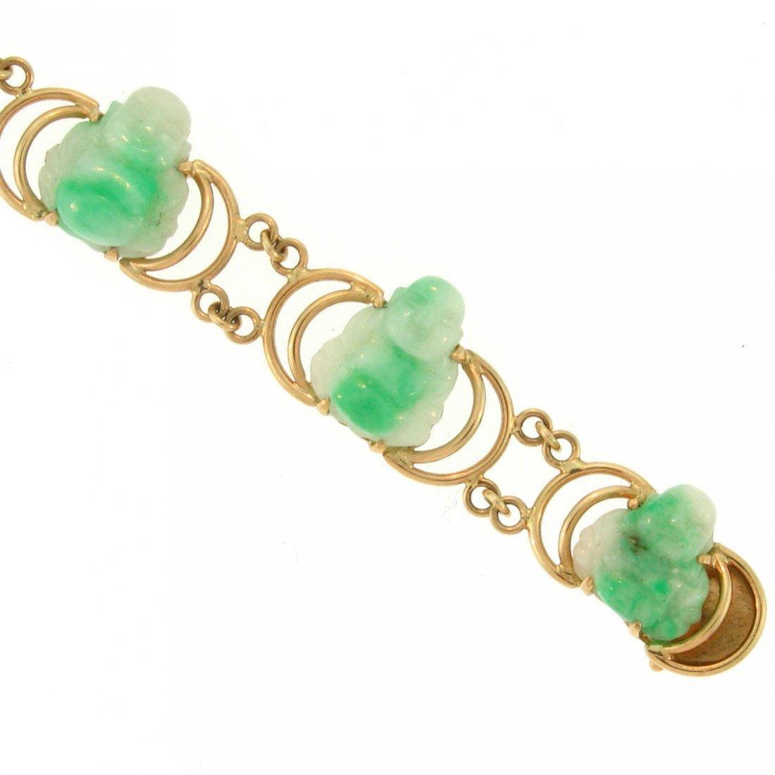 Untreated Green Jade Bracelet