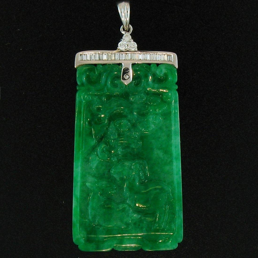 Untreated Green Jade Pendant