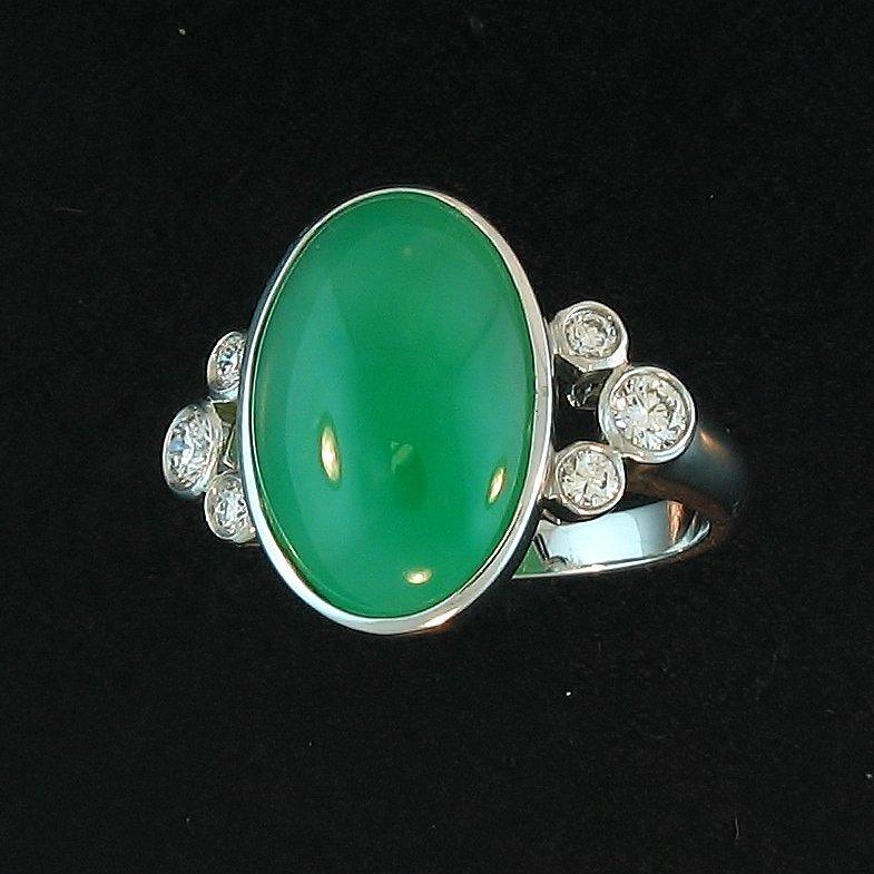 Burmese Green Jade Ring