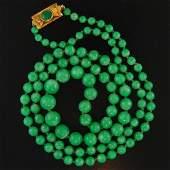 Burmese Green Jade Necklace