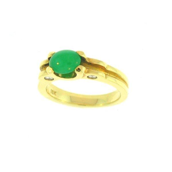 Untreated Green Jade Ring