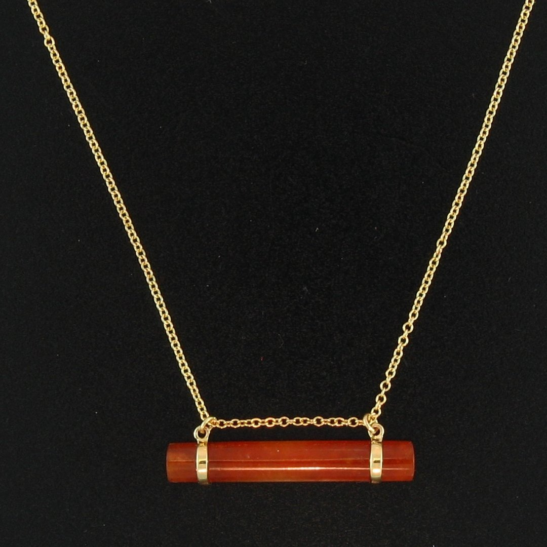 Untreated Red Jade Necklace