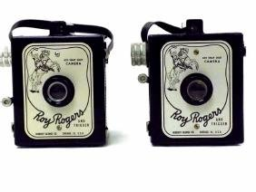 VINTAGE ROY ROGERS & TRIGGER CAMERAS Pair of Herbert