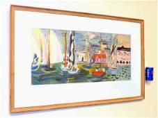 RAOUL DUFY- ABSTRACT HARBOR LITHOGRAPH Raoul Dufy -