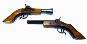 PARRIS BLUNDERBUSS & PERCUSSION PISTOL CAP GUNS Pair