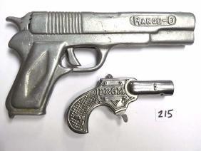 VINTAGE RANGE O / TIP CAST IRON TOY CAP GUNS Vintage
