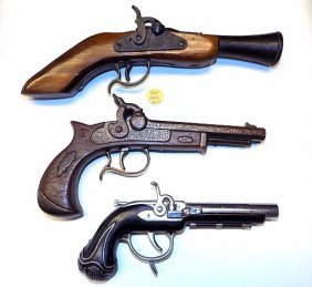 BLUNDERBUSS DERRINGER CAP GUN LOT