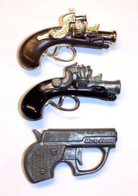 MINIATURE FLINTLOCK CAP GUN PISTOL GROUP