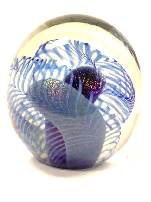 EICHOLT - IRIDESCENT PULLED FEATHER ART GLASS - 2