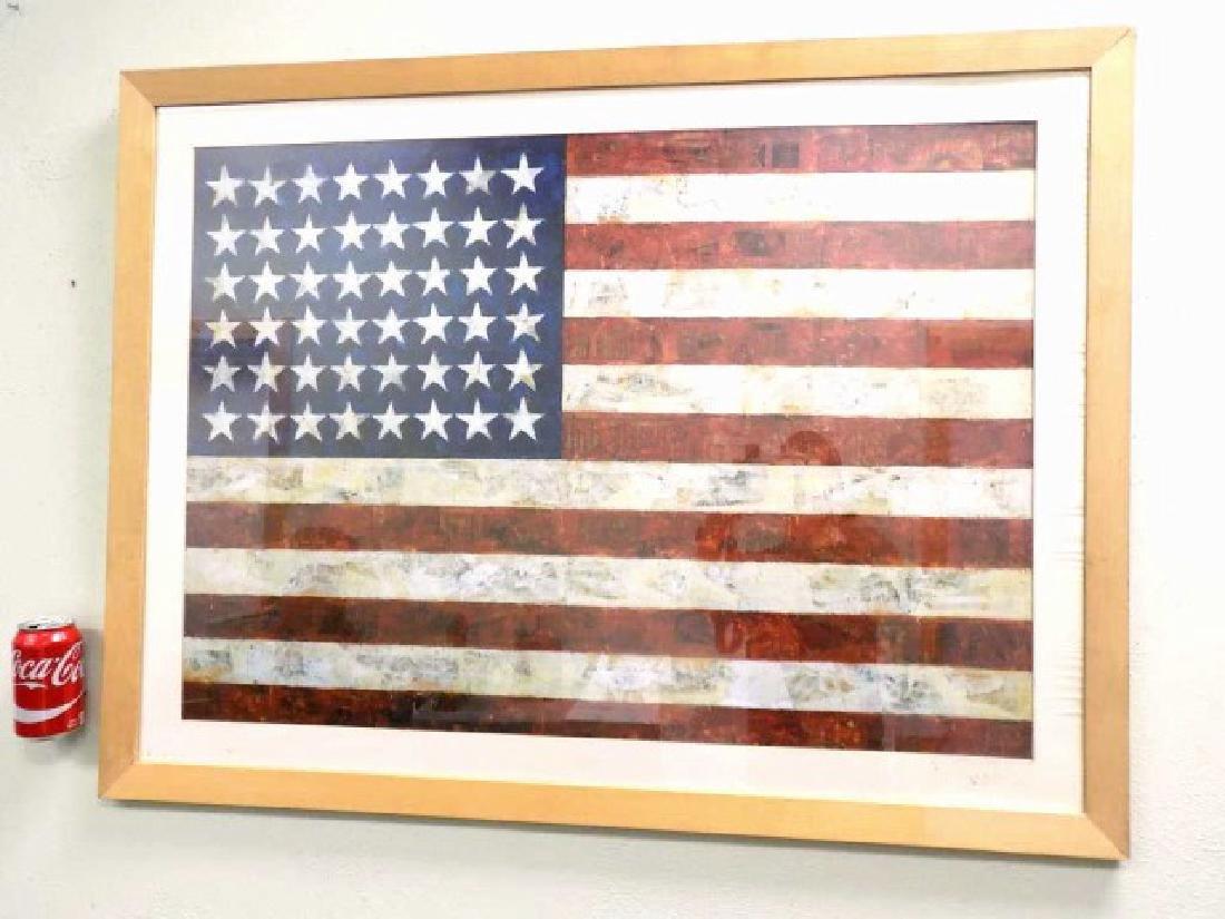 JASPER JOHNS - AMERICAN FLAG LITHOGRAPH