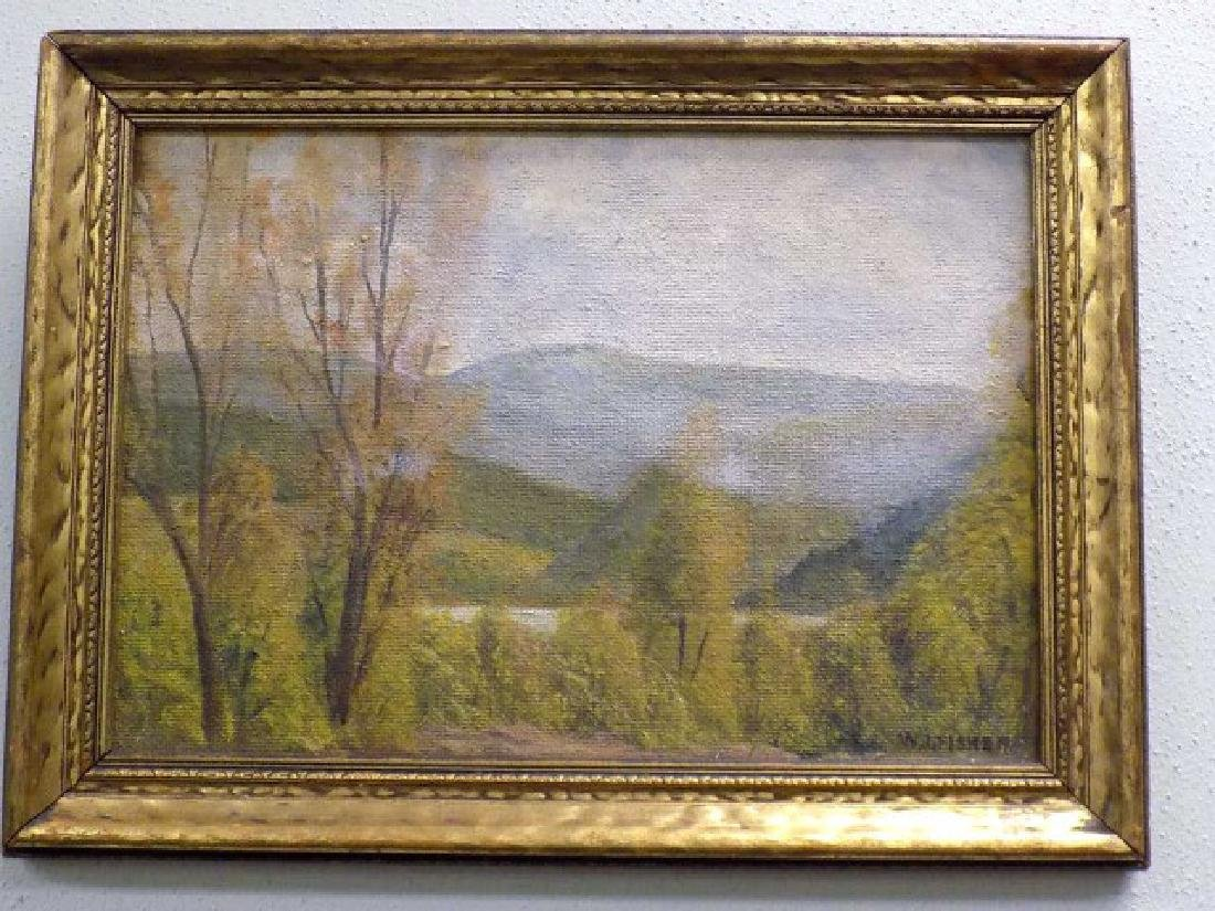 W.I. FISHER HUDSON RIVER VALLEY LANDSCAPE PAINTING
