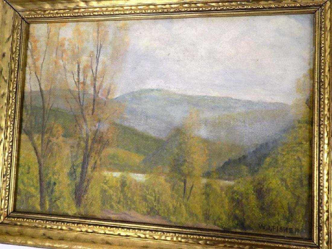 W.I. FISHER HUDSON RIVER VALLEY LANDSCAPE PAINTING - 2