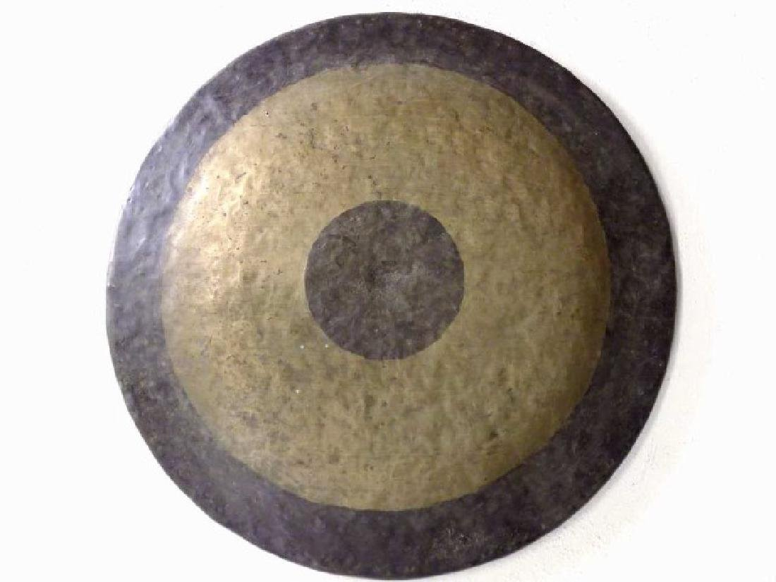 CHINESE HAMMERED BRONZE GONG