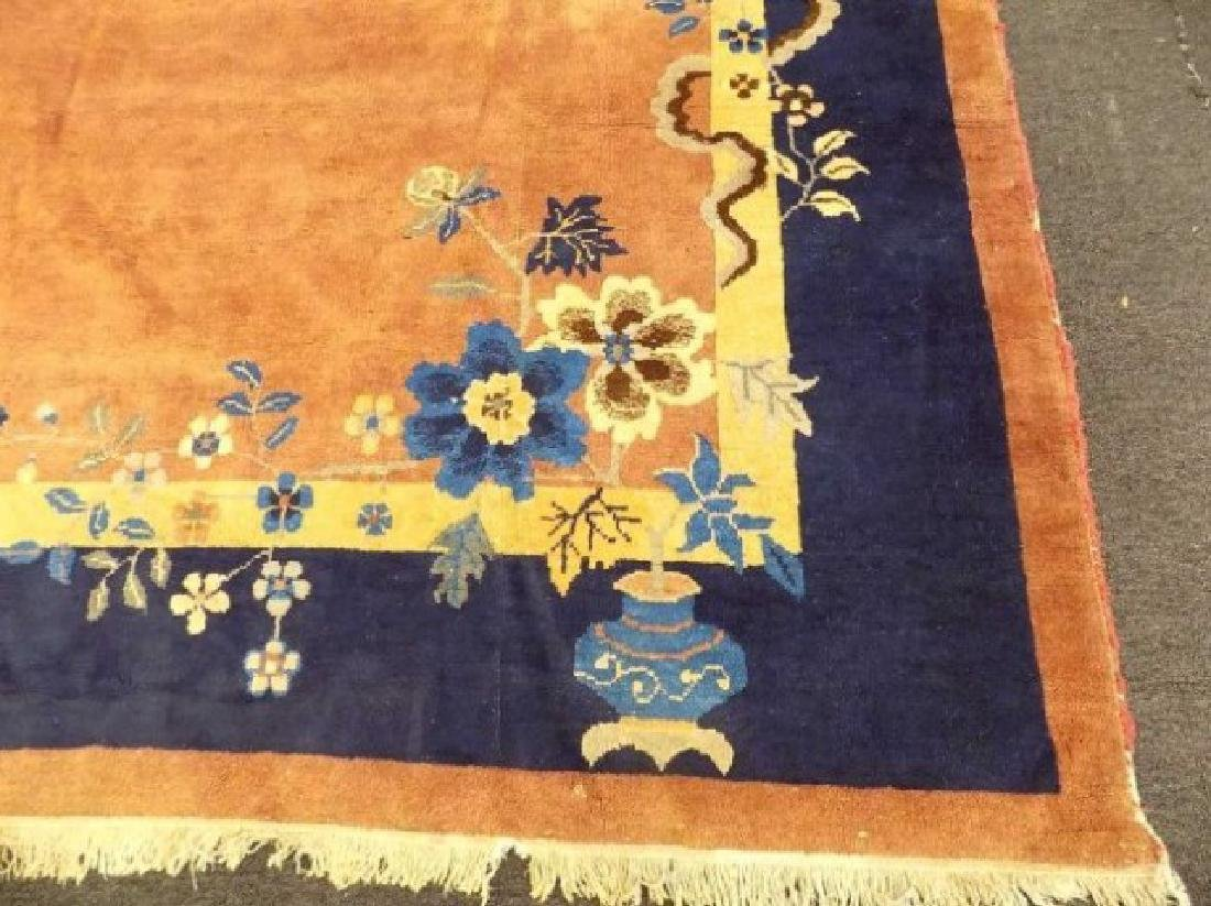 CHINESE NICHOLS SALMON FLORAL ROOM SIZE - 6