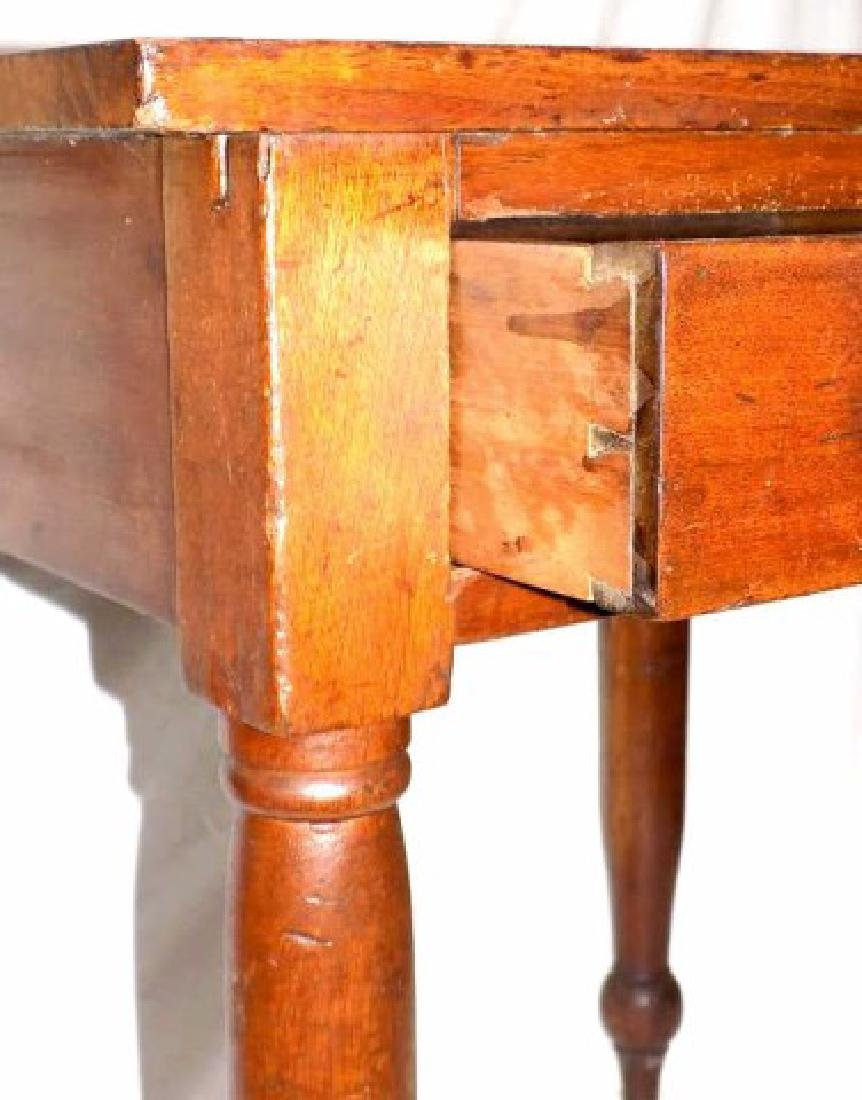PRIMITIVE COLONIAL COUNTRY ONE DRAWER TABLE - 4