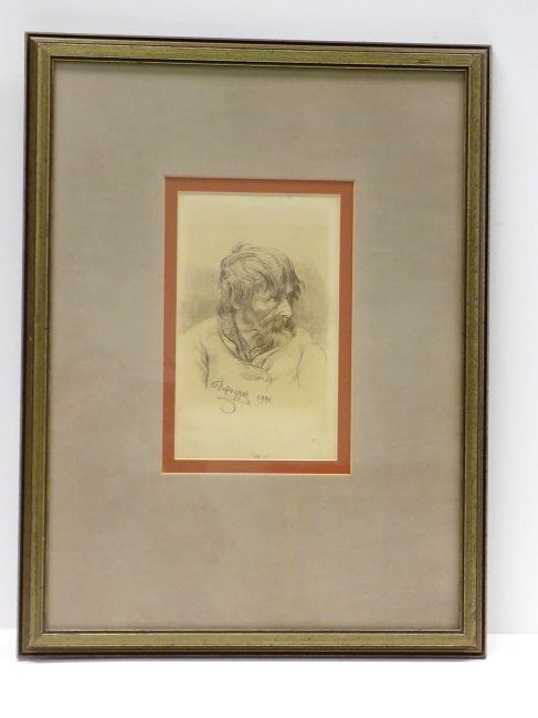 FRANZ DEFREGGER - OLD MASTER DRAWING LITHOGRAPH