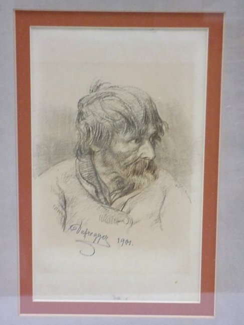 FRANZ DEFREGGER - OLD MASTER DRAWING LITHOGRAPH - 2